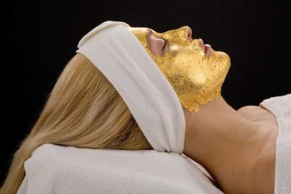face gold mask